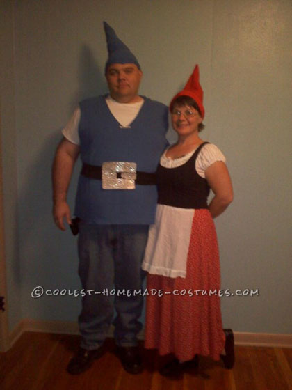 Easy Last-Minute Couple Halloween Costume: Gnomeo and Juliet