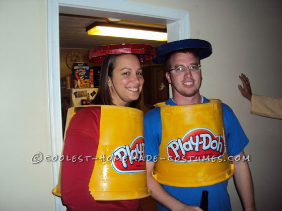 Cheap and Simple Play-Doh Couple Costume