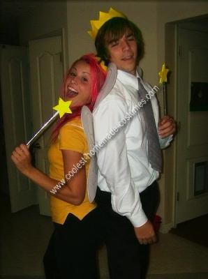 Coolest Homemade Cosmo and Wanda Couple Costume from Fairly Odd Parents