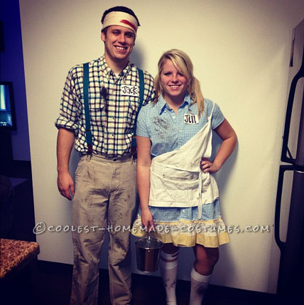 Jack and Jill After they Fell Down the Hill Couple Costume