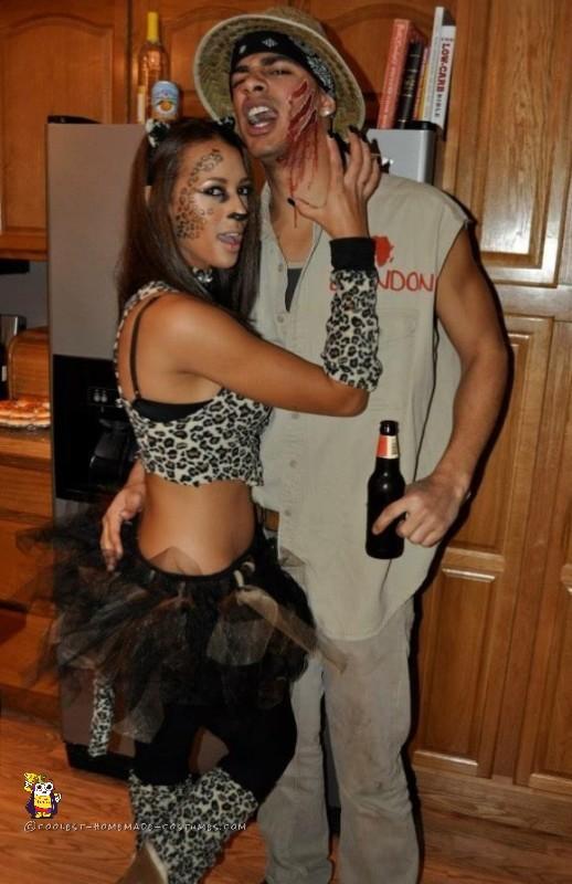 Leopard and Safari Guide Couples Costume