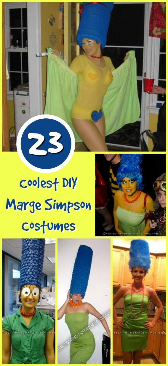 If you are looking to stand out on Halloween, what better way than make yourself a Marge Simpson Costume? With her Giant blue hair, popping eyes and yellow skin, you wouldnt be missed anywhere you go! If youre going with your family you can all go as the Simpsons family together! D'oh!