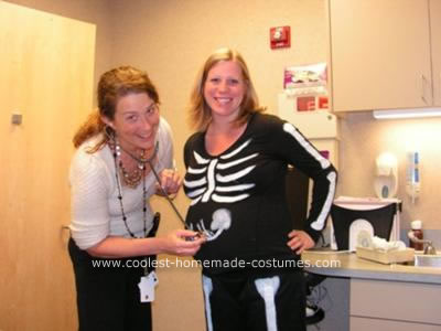 Coolest Homemade Pregnant Skeleton Costume Idea