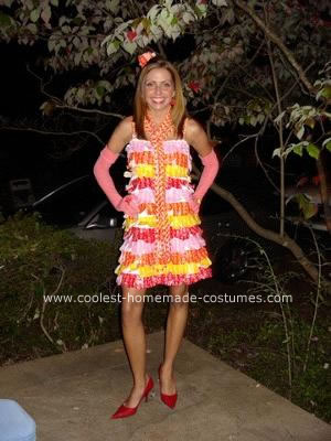 Coolest Homemade Lady of Starburst Costume