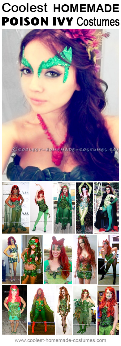 You can go wild with the many different Poison Ivy costumes and makeup ideas. The costumes here will get you started off and hopefully will inspire you to create your own version of the coolest Poison Ivy costume. Don't forget to share them with us once you've finished with your costume creation.
