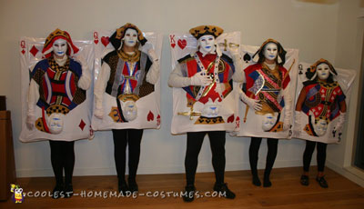 Poker Cards Family Costume