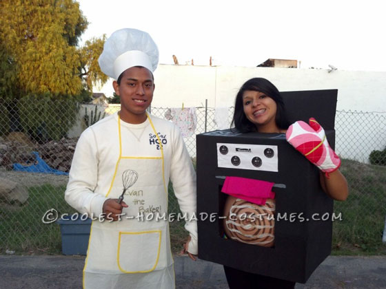 Awesome Bun in the Oven Pregnant Couple Costume