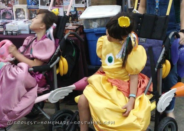 Princess Daisy and Princess Peach Costumes for Wheelchairs