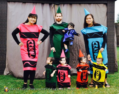 Quintuplets Crayola Family Costumes
