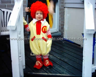 Homemade Ronald McDonald Costume