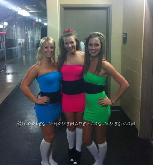 Sexy College Halloween Costume Ideas sexy starbucks costume spray tan not included or perhaps its a byproduct of Easy Last Minute Power Puff Girls Group Costume