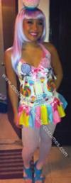 Homemade California Gurls Candy Costumes