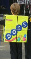 Homemade DOTS Candy Costume