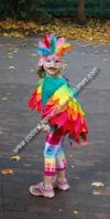 Handmade Rainbow Bird Costume