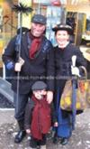 Homemade Mary Poppins Family Costume