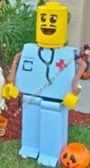 Homemade Mr. Legoman Halloween Costume Idea