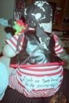 Homemade Pirate Unique Halloween Baby Costume Idea
