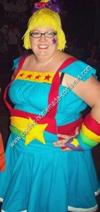 Homemade Rainbow Brite Adult Halloween Costume