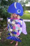 Homemade Rainbow Fish Halloween Costume