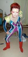 Homemade Ziggy Stardust Costume