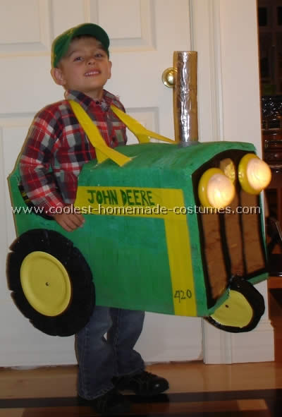 Coolest homemade tractor costumes for Unique childrens halloween costume ideas