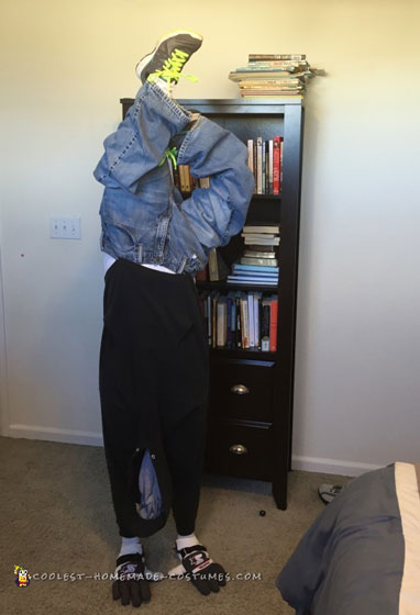 Upside Down Man Illusion Costume